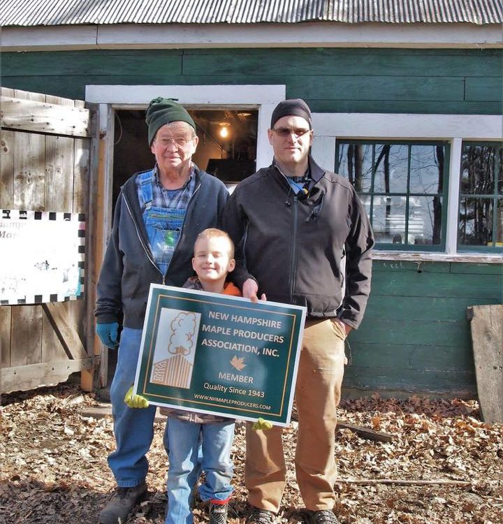 Smith Farm in Gilford showing us their new NHMPA sign