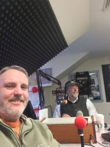 On the air with Peter St James on WTPL 107.7 The Pulse
