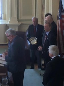 Tribute to the Fadden family in the NH State Senate