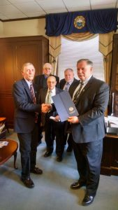 FADDEN FAMILY HONORED BY NH LEGISLATION